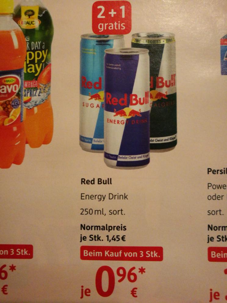 [DM] Red Bull ab 3 Stück günstiger