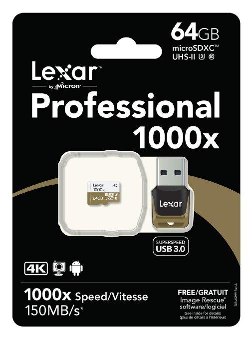 Lexar Pro microSDXC (64GB, 40MB/s write) um 20 € - 60% sparen