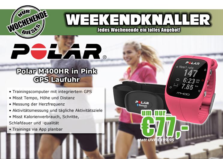0815.at: Polar M400 Pulsuhr mit Herzfrequenzmesser (Pink) für 77€
