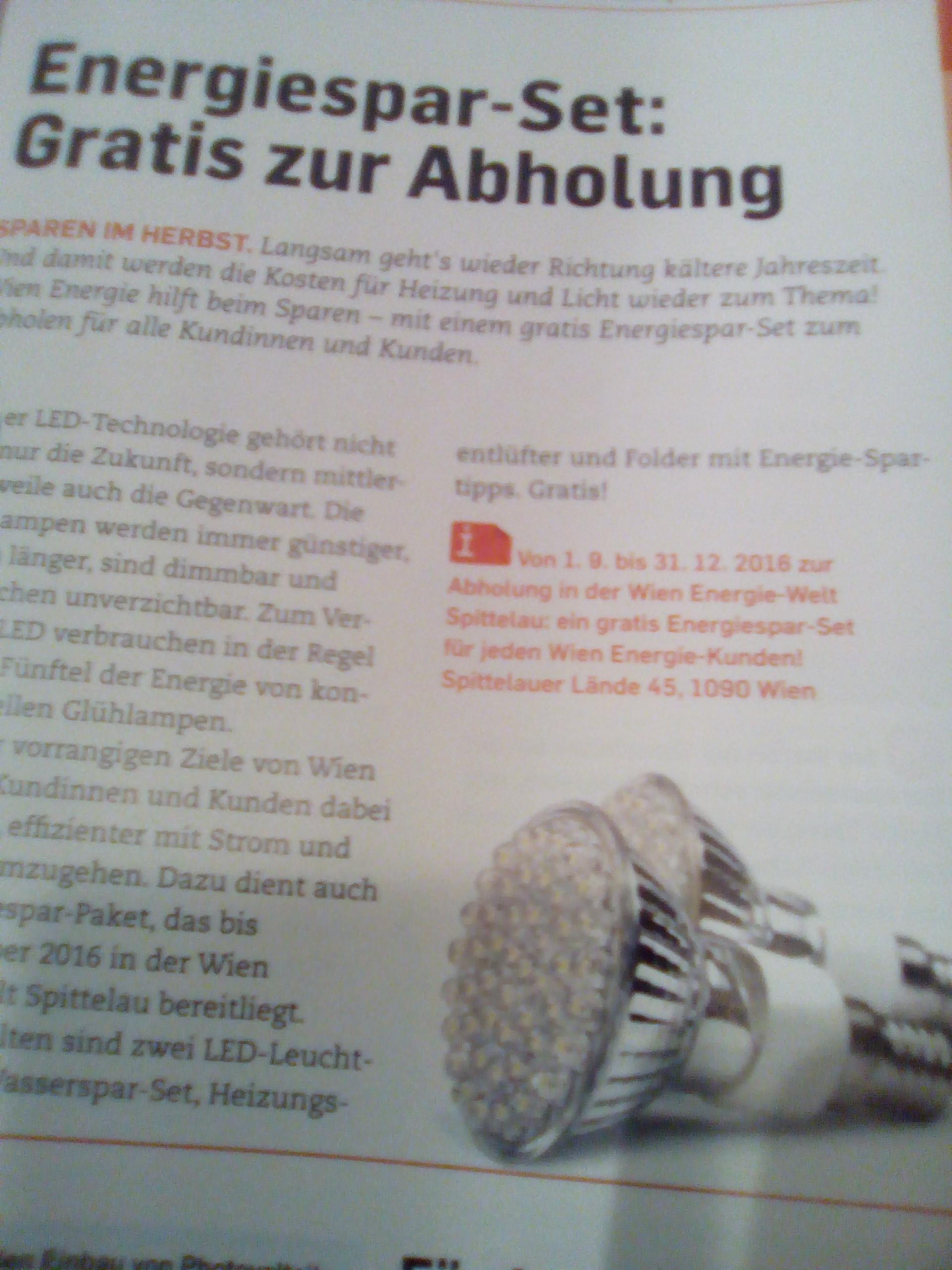Gratis: 2 LED-Birnen + Wassersparset + Heizungsentlüfter