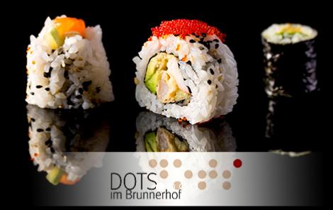 DOTS Wien: Sushi-Menü für 2 Personen um 30 € - statt 60,70 €