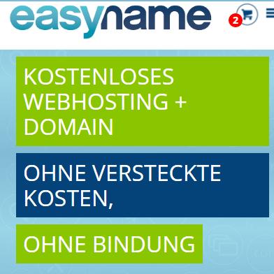 Gratis .AT/.EU/.COM Domain + 20 GB Webspace