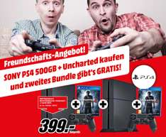 [Mediamarkt.at] 2x (PS4 500GB, Uncharted4, Controller)