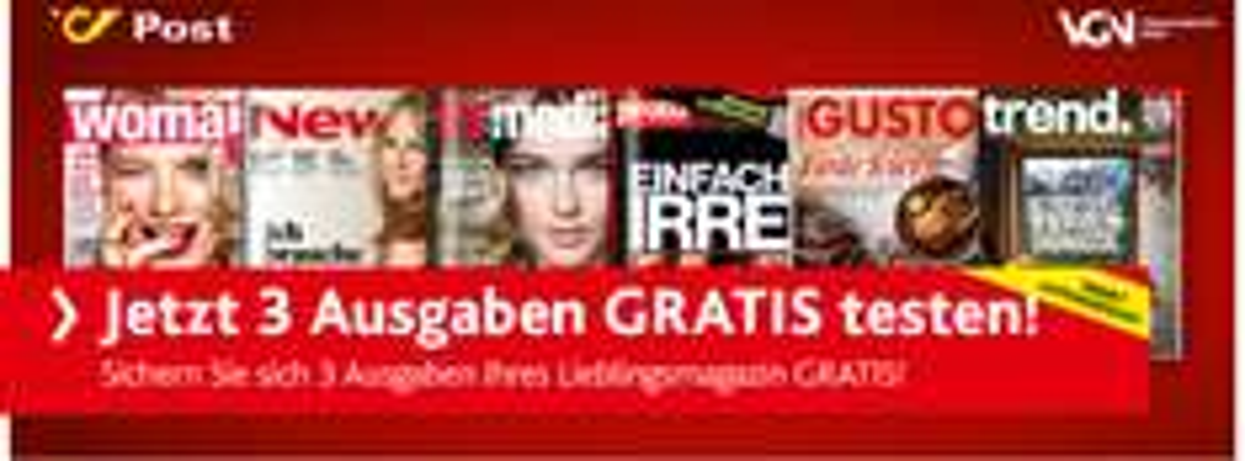 Post/VGN 3 Ausgaben verschiedener Zeitschriften Gratis testen  - Endet Automatisch
