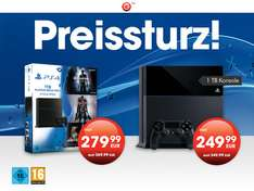 GameStop: PlayStation 4 1TB Players Mega Pack + 4 Games für 279,99€