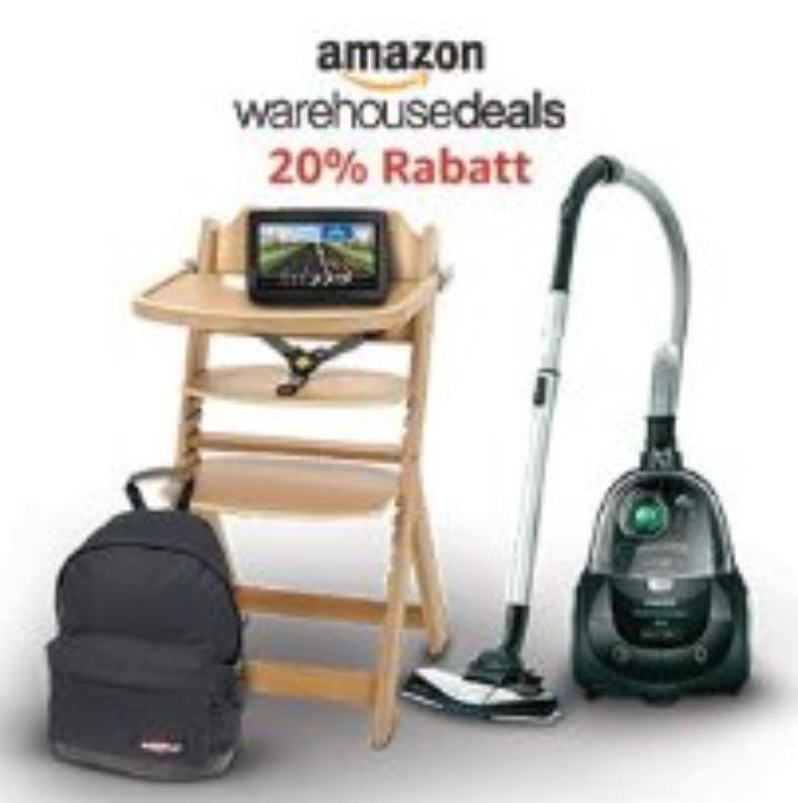 Amazon Warehouse Deals - 20% Extra-Sofort-Rabatt