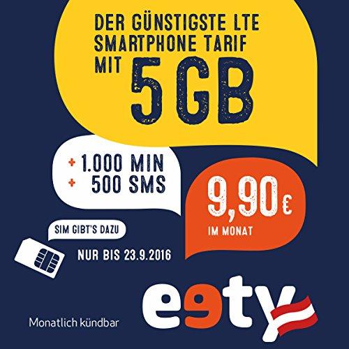 [amazon] eety Top Promo 1000min, 500sms, 5GB LTE bis 13h um 6,90