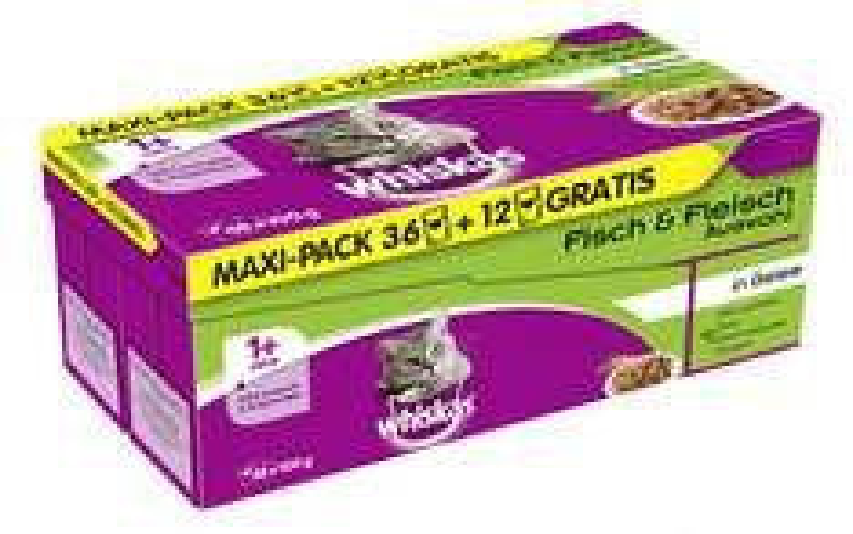 Whiskas Beutel um 16,7 Cent der Beutel - Preisvergleich ab 21 Cent