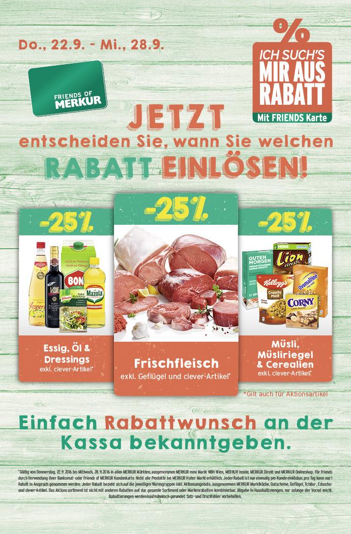 Lebensmittelhandel Angebotsübersicht 22.9.2016 - 28.9.2016