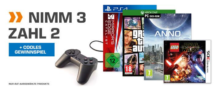 [Saturn Online] Games-Aktion Nimm 3 Zahl 2
