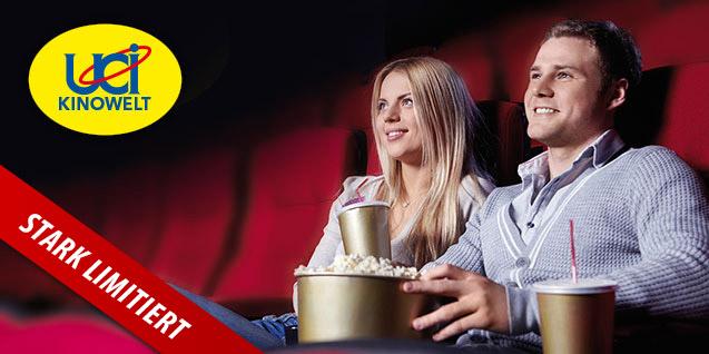 DailyDeal: 5 UCI Kino-Tickets um 32 € - 50% sparen