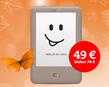 """Thalia: Tolino """"Page"""" eReader um 49 € inkl Versand - 32% sparen"""