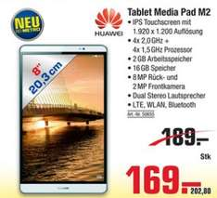 [Metro]Huawei MediaPad M2 8.0 silber für €202