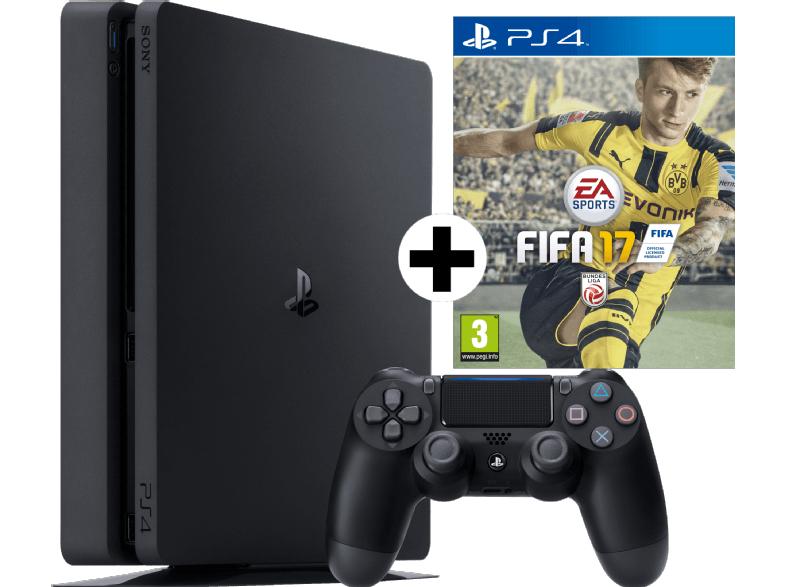 Media Markt: PlayStation 4 Slim (1TB) + FIFA 17 + 2x Controller für 339€