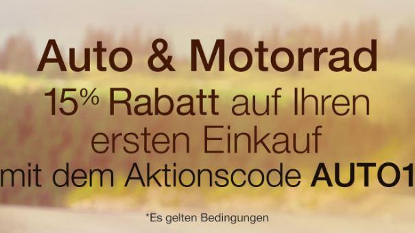 [Amazon.de] Auto & Motorrad Produkte -15%