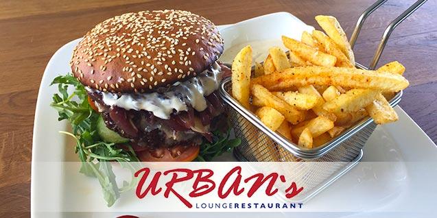 Urban's Burger + Pommes (für 2 Personen) um 9,90 € - 50% sparen