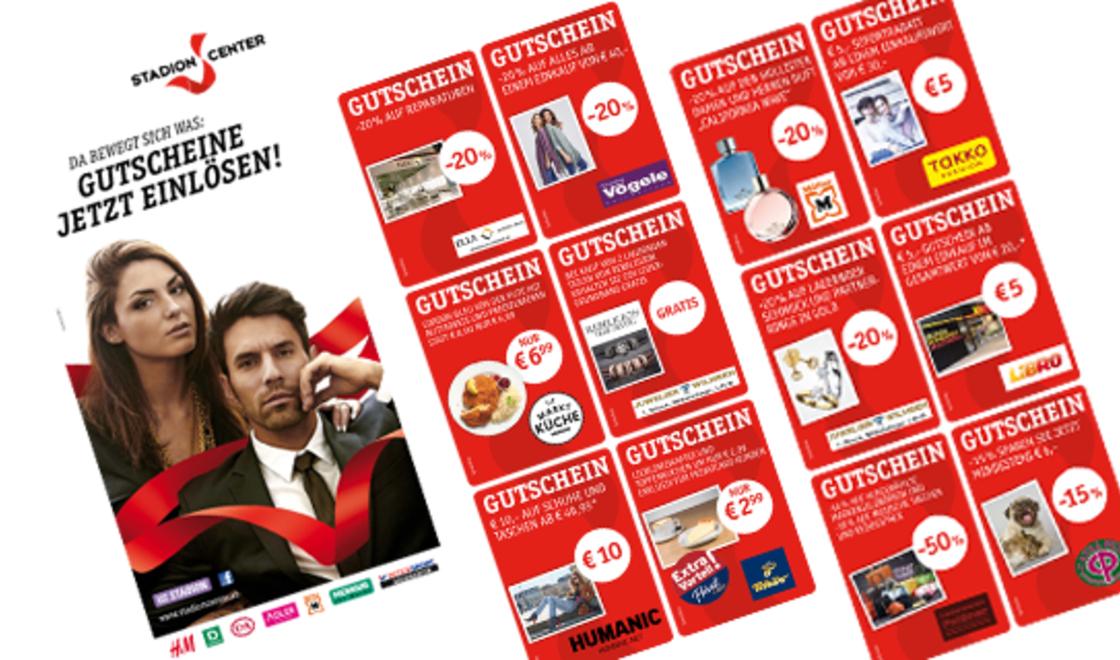 Stadion Center Wien Gutscheinheft - u.a. mit 5€ Libro Gutschein