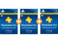 [Saturn.at] 3x 12 Monate PS+ für 92€