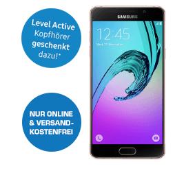 Samsung A5 (2016, rosegold) + Level Active Kopfhörer um 244 € - statt 384 € - 36% sparen