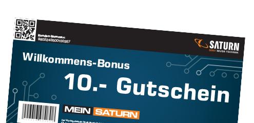 15€ Saturn Gutschein (10€ bei Anmeldung Kundenkarte + 5€ Newsletter)