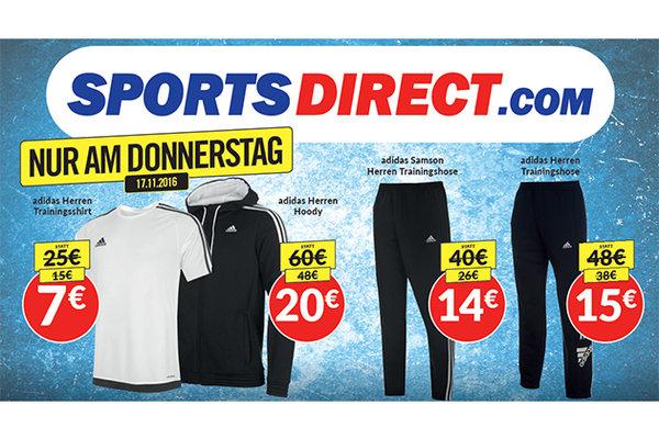 SportDirect Gutschein Aktion für Adidas Sport Sachen