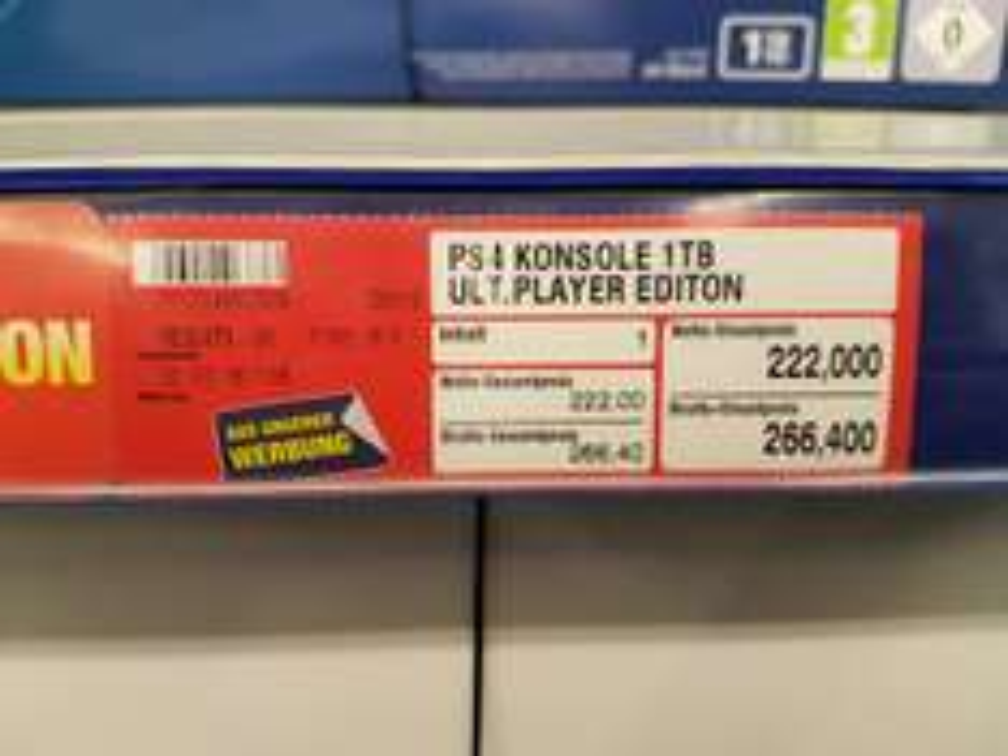 Playstation 4 1 TB bei Metro um 266,40 Euro