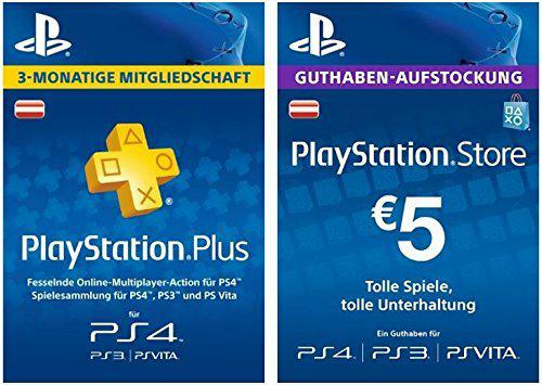 PS Plus Mitgliedschaft 12 Monate + 5 EUR PlayStation Store Guthaben