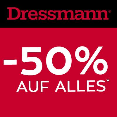 Dressmann Neueröffnung Wien Riverside - 50% Rabatt auf alles - vom 1. - 3. Dezember