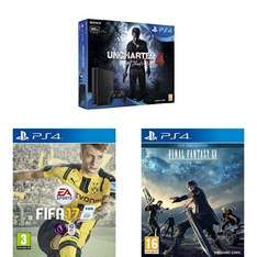 Amazon.co.uk - PlayStation 4 Slim 500 GB + Uncharted 4 + Fifa 17 + Final Fantasy XV - € 265 !
