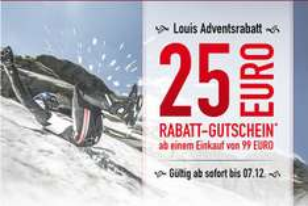 25 Euro Rabatt-Gutschein für Ihren Weihnachtseinkauf bei Louis