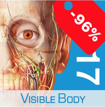 [Google PlayStore] Visible Body Atlas der Anatomie 2017 für 1,09€ statt 24,99€ - 96% sparen