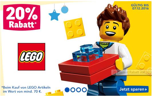 [Toys'r us] -20% auf Lego ab 70€ Einkaufswert
