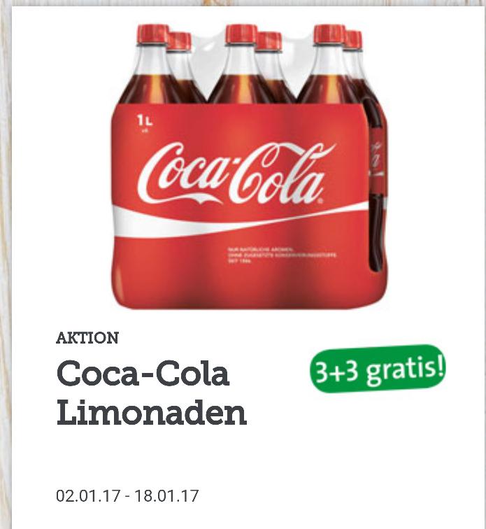 Spar Aktionen unter anderem 1L Coca Cola 3+3 Gratis