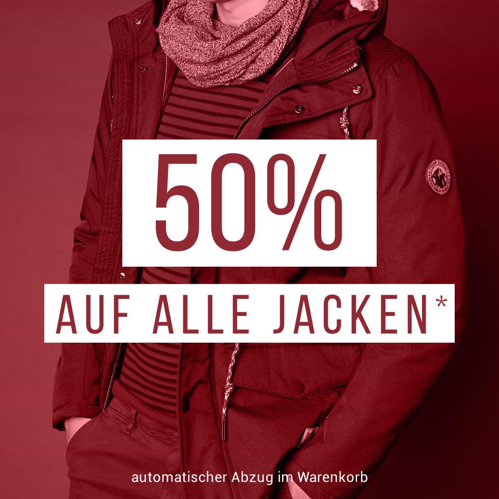 Tom Tailor: 50% Rabatt auf alle Jacken - nur bis zum 15. Jänner