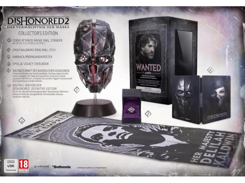 [Mediamarkt.at] Dishonored 2: Das Vermächtnis der Maske - Collector's Edition für PS4/XBONE um €44 versandkostenfrei