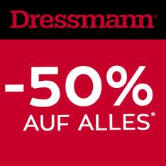 Dressmann Neueröffnung Wien Millenium city - 50% Rabatt auf alles - vom 16. - 18. Februar