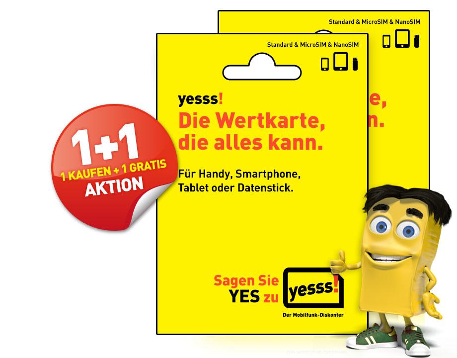 Yesss Starterset Wertkarte 1 Gratis