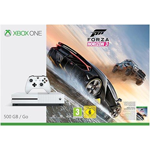 MICROSOFT Xbox One S 500GB Konsole (Weiß) inkl,Forza Horizon 3 oder FIFA 17  um 199€ @ amazon