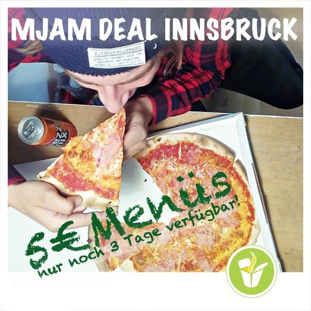 Mjam (Innsbruck) - 34 Menüs um 5 € - bis 14.6.2017