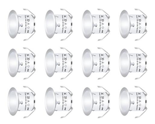 12 Stück LED Bodeneinbauleuchten , IP67 Wasserdicht , Warmweiß
