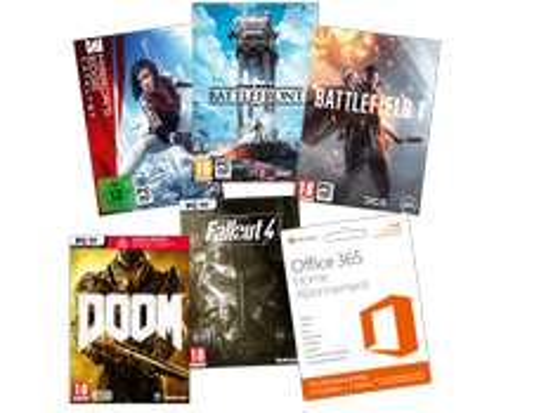 [mediamarkt.at] Office 365 ( 12 Monate) + Battlefield 1 + Fallout 4 + Doom + Mirror's Edge : Catalyst + Battlefront für 44€