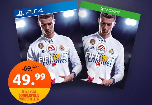 Müller: FIFA 18 (Xbox One / PlayStation 4) für nur 49,99€ vorbestellen