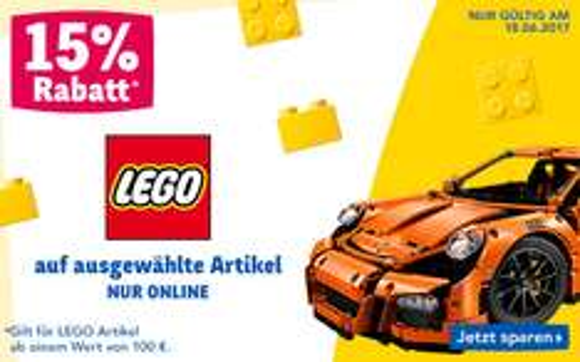 ToysRus: 15% Rabatt auf alle LEGO Artikel ab 100€ - nur heute gültig!