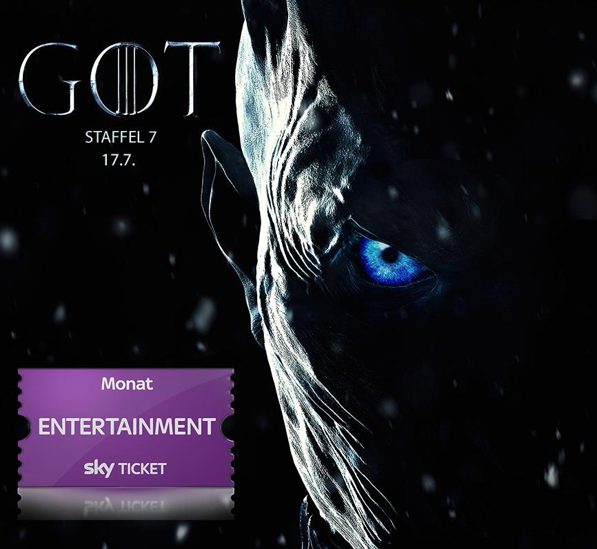 Sky.at: Sky Entertainment Ticket für ca. 1,80€ bis Ende August (inkl. Game of Thrones Season 7)