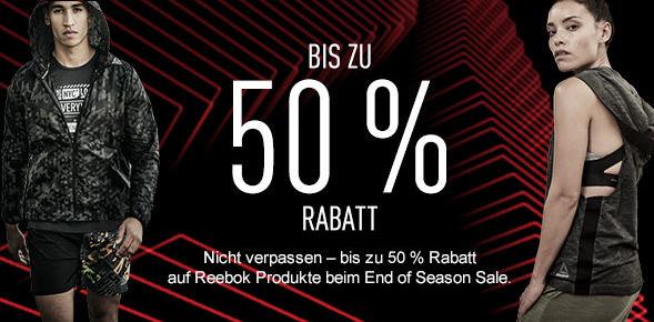 Reebok End of Season Sale mit bis zu 50% Rabatt + 10% on top