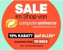 """Rakuten.de/Computeruniverse: -15 auf ALLES, z.B.: iPhone 7, 128GB für 661€ statt 755€ // iPad Pro 12.9"""" 128GB für 689€ statt 790€ // LG G6 für 397,05€ statt 465€ // Ryzen 1700X für 316€ statt 357€ uvm.."""