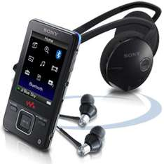 [MP3-Player] Sony NWZ-A829 16GB + Bluetooth Headset für 226€