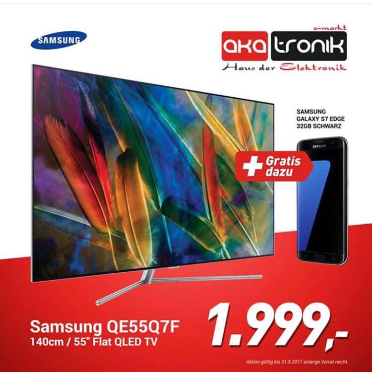 SAMSUNG QLED FLAT TV + Galaxy S7 Edge