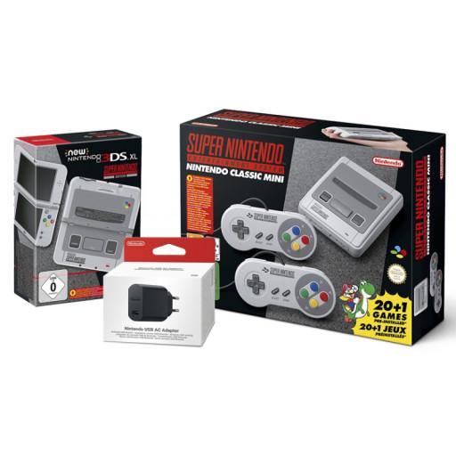 [Libro]Super Nintendo Entertainment System Bundle /  Mini: Super Nintendo + Nintendo 3DS  XL Konsole + USB AC Adapter um 299€