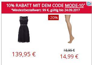 [Peek & Cloppenburg] -10% Rabatt bis 24.9.2017 online - auch auf Sale-Artikel, MBW 99 EUR